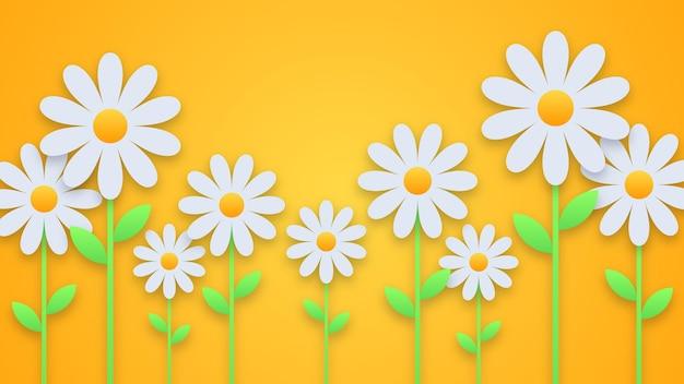 Lente met papieren bloemen