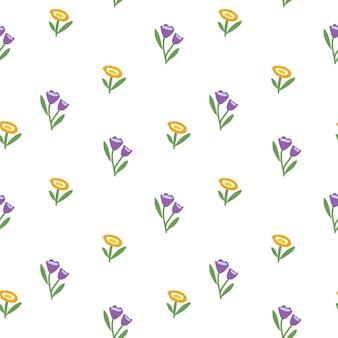 Lente of zomer botanisch naadloos patroon