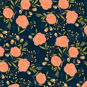 Lente rozen hand getrokken patroon