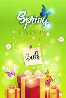 Lente sale winkelen speciale aanbieding vakantie banner