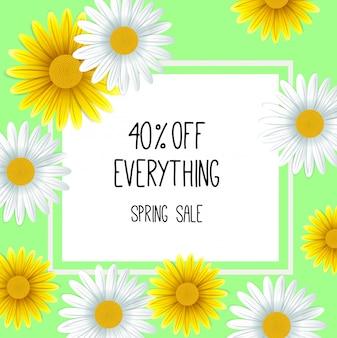 Lente verkoop achtergrond met mooie bloem