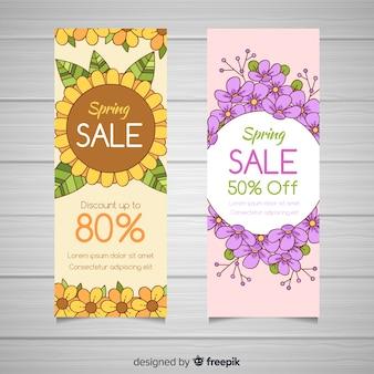 Lente verkoop banners
