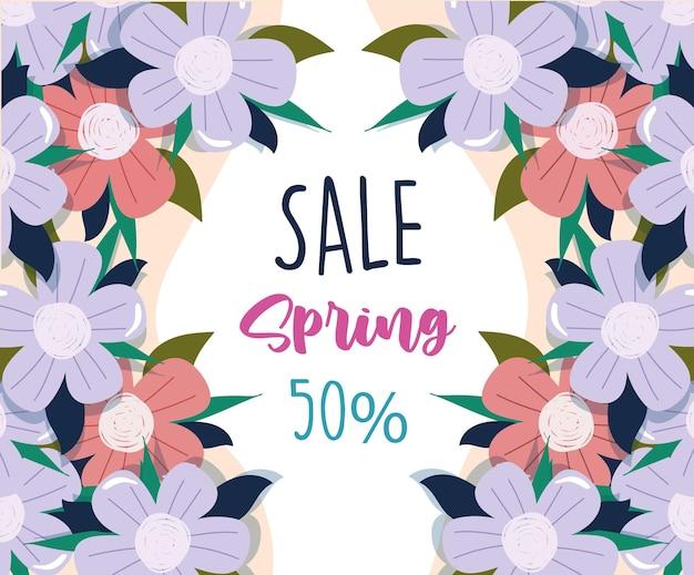 Lente verkoop bloemen