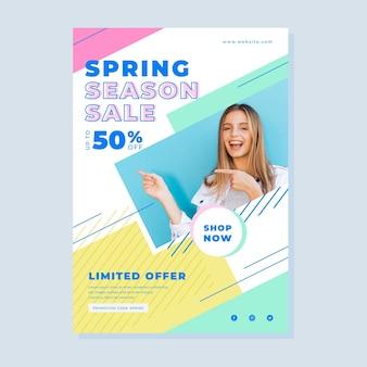 Lente verkoop flyer met foto