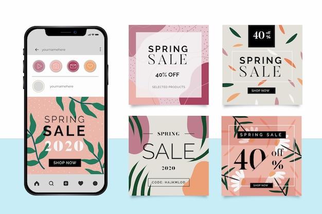 Lente verkoop instagram-berichten