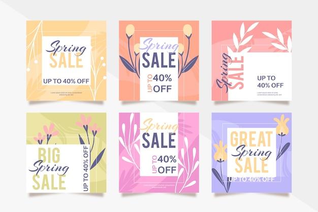 Lente verkoop instagram kleurrijke post collectie
