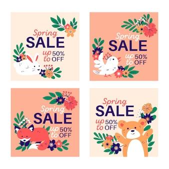 Lente verkoop instagram post collectie
