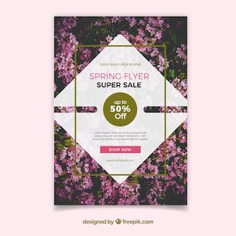 Lente verkoop poster met een foto