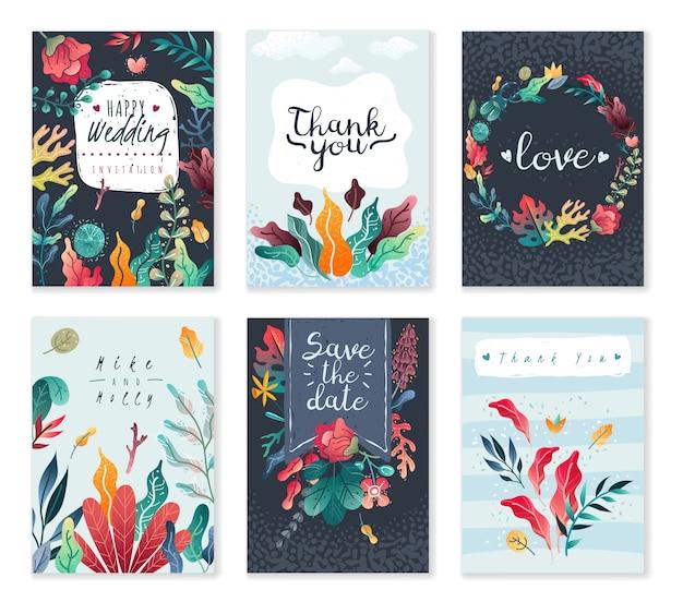 Lente-zomer decoratieve kaarten