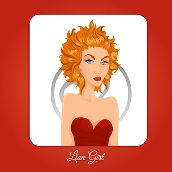 Leo girl illustratie