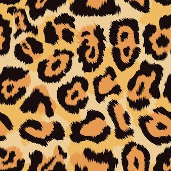 Leopard huid naadloze patroon achtergrond.