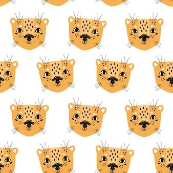 Leopard naadloze patroon scandinavische stijl