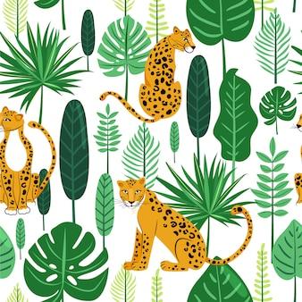 Leopard naadloze patroon