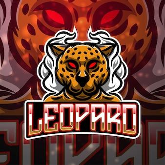 Leopard sport mascotte logo ontwerp