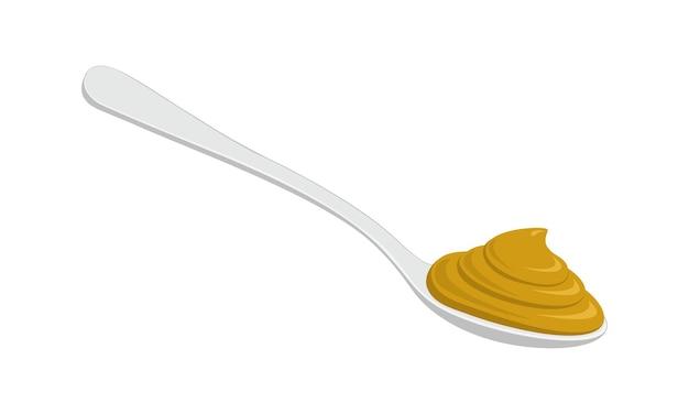 Lepel met mosterd