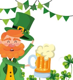 Leprechaun party bier klavers
