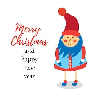 Leprechaun wenst een vrolijk kerstfeest en een gelukkig nieuwjaar