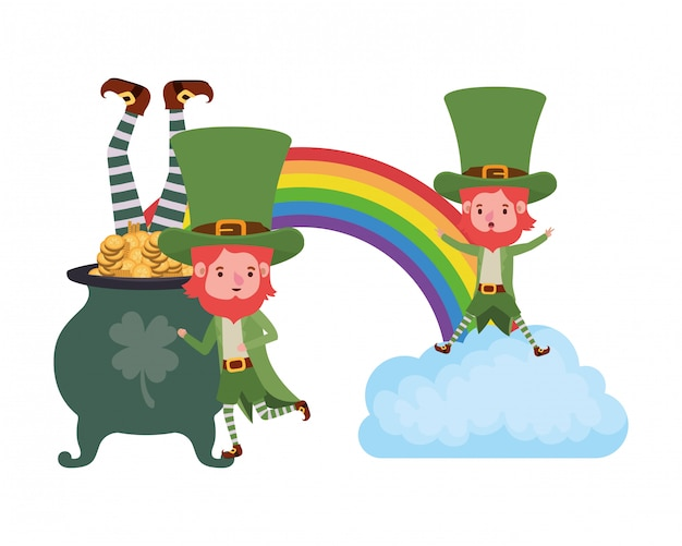 Leprechauns met regenboog avatar karakter
