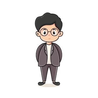 Leraar karakter logo ontwerpsjabloon voor leraren dagen icoon