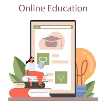 Leraar online service of platform