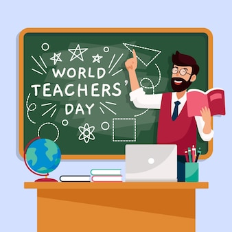 Leraren dag illustratie concept