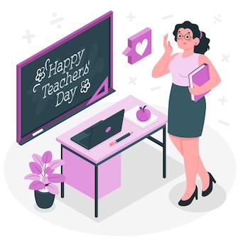 Lerarendag concept illustratie