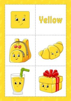 Leren kleuren flashcard voor kinderen