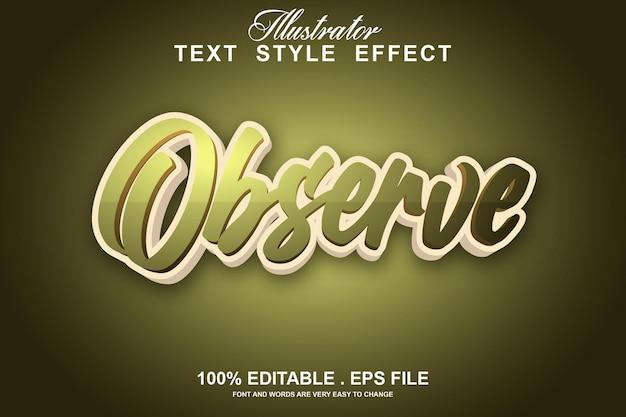 Let op bewerkbaar teksteffect