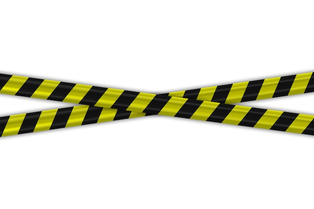 Let op politie zwart en geel gestreepte randen