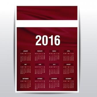 Letland kalender van 2016