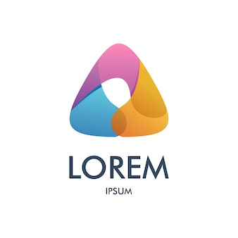 Letter a driehoek logo