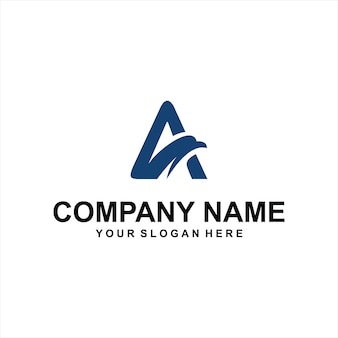 Letter a eagle logo vector