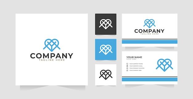 Letter a en y logo ontwerp inspiratie en visitekaartje