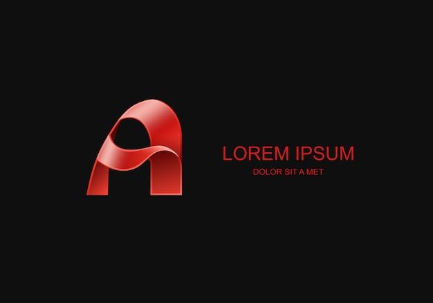 Letter a gestileerd sjabloon embleem logo, universeel bedrijfstechnologie idee