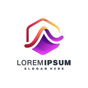 Letter a kleurrijk logo
