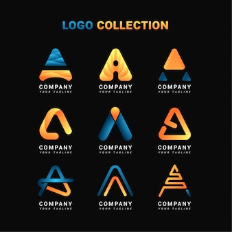 Letter a logo collecties