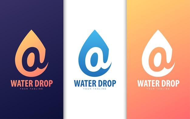 Letter a-logo in waterdruppel met natuurconcept