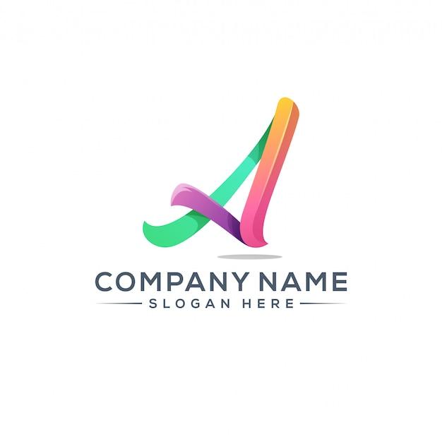 Letter a logo ontwerp voor uw bedrijf