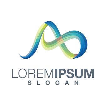 Letter a logo-ontwerp