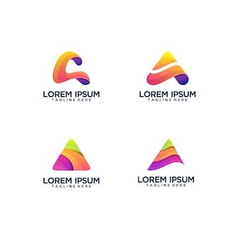 Letter a logo sjabloon