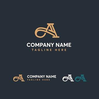 Letter a-logo sjabloon