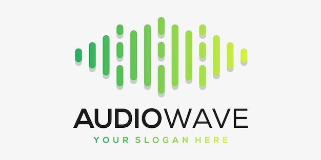 Letter a met pols. muziekspeler element. logo sjabloon elektronische muziek, equalizer, winkel, dj, nachtclub, disco. audiogolf logo concept,