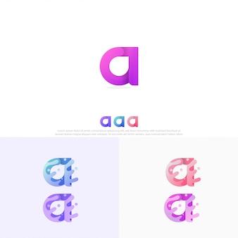 Letter a met vloeibare stijl