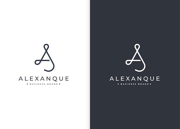Letter a minimalistische logo-ontwerpsjabloon
