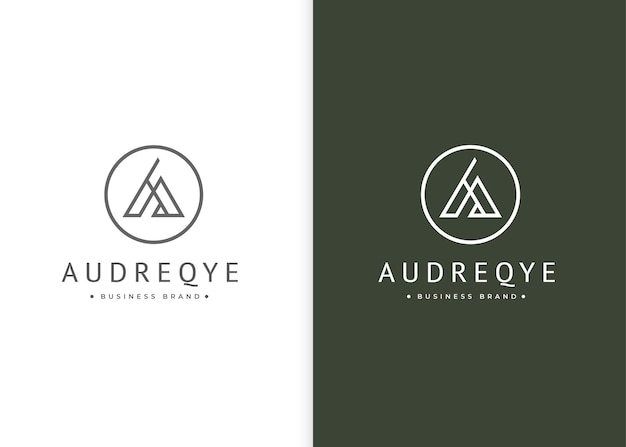 Letter a monogram logo-ontwerp met cirkelvorm