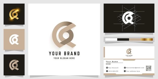Letter a of aa monogram logo met visitekaartje ontwerp