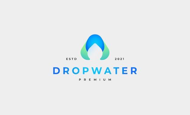 Letter a waterdrop logo vector ontwerp illustratie