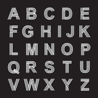 Letter alfabetten lijn lettertype