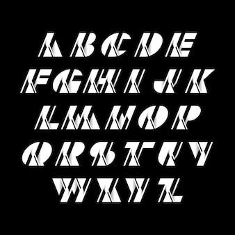 Letter alfabetten logo lettertypen eerste moderne