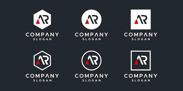 Letter ar inspirerend logo-ontwerp